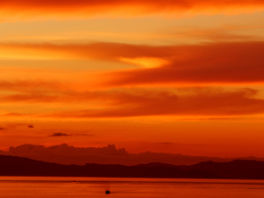 Sunset over Bohol Strait