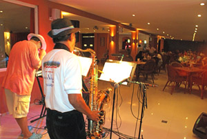Saxophone Players at Le Panorama Restaurant